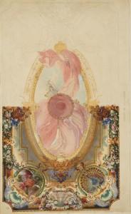 Projet de plafond. Eugène Lami (1800-1890) France, [vers 1852-1870] Crayon et aquarelle Achat du musée, 1890 Inv. CD 5732.8 © Les Arts Décoratifs