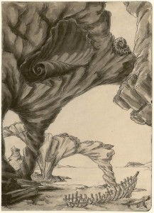 Grotte marine Emilio Terry y Sanchez (1890-1969) France, XXe siècle Plume, encre de Chine et lavis Legs Terry y Sanchez, 1972 Inv. 47773.37 © Les Arts Décoratifs