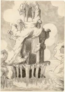 Projet pour un pavillon Emilio Terry y Sanchez (1890-1969) France, 1932 Crayon, plume, encre de Chine et lavis Legs Terry y Sanchez, 1972 Inv. 47773.72 © Les Arts Décoratifs